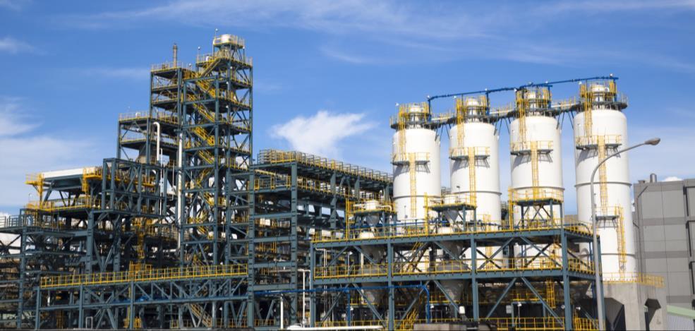 Buildings of heavy industrial plants