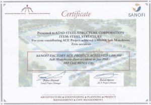 Sanofi Safety Certificates