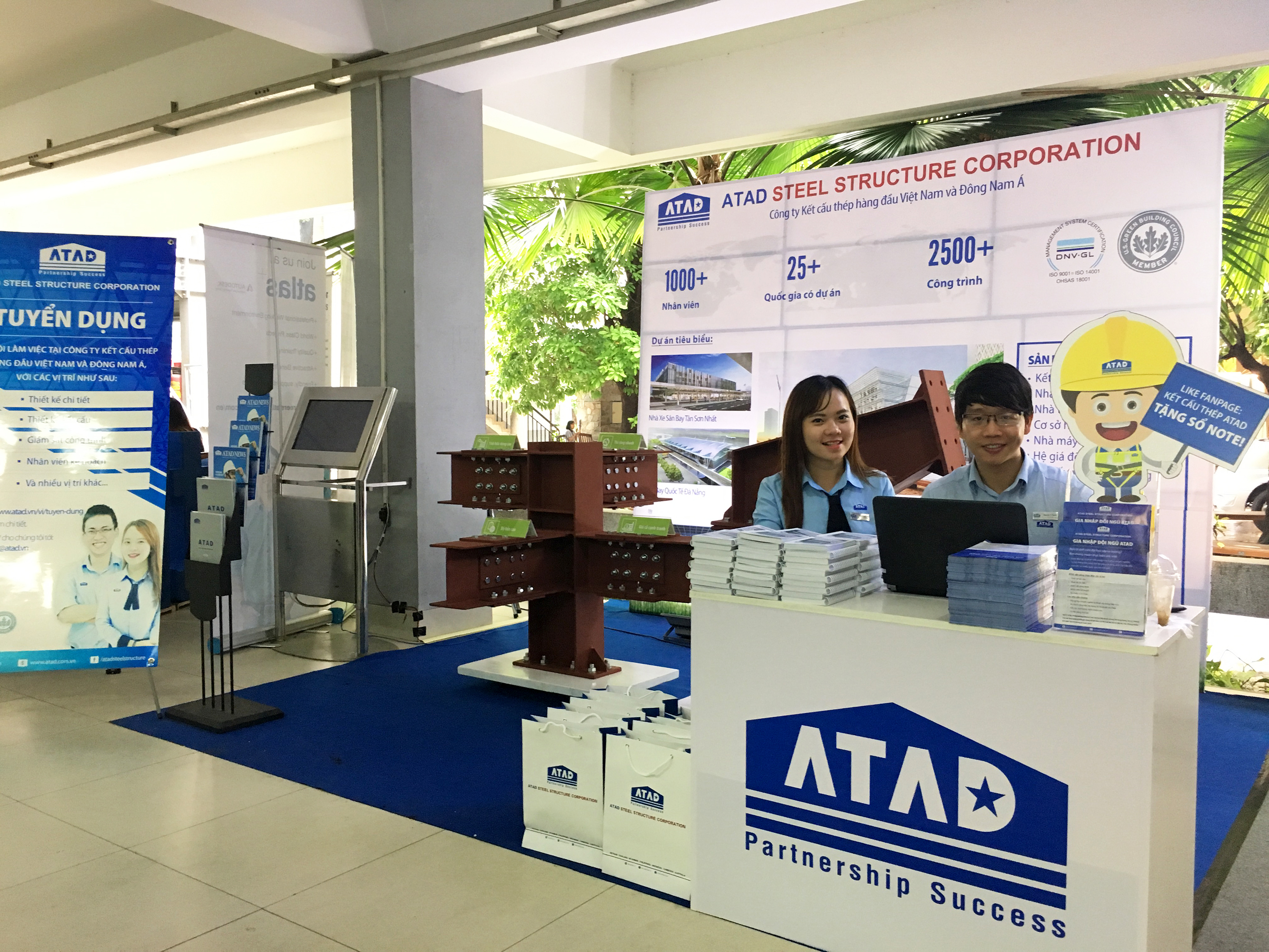 The 40th anniversary of celebration of UAH - ATAD booth