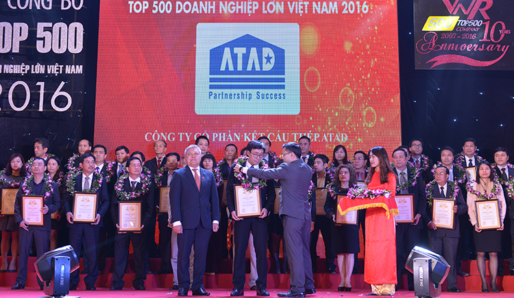 ATAD ranked in the top 500 private enterprises of Vietnam