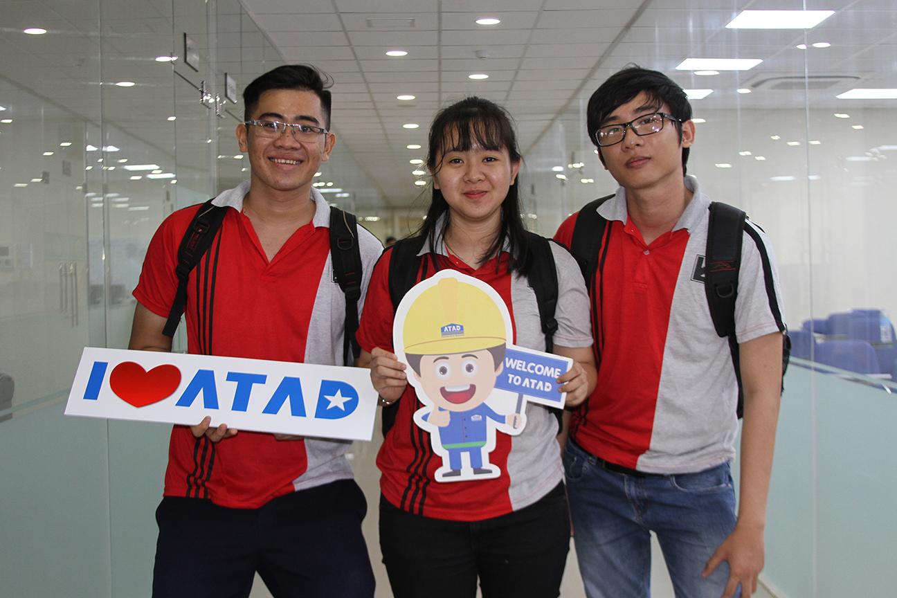 Students took photos with ATAD chibi