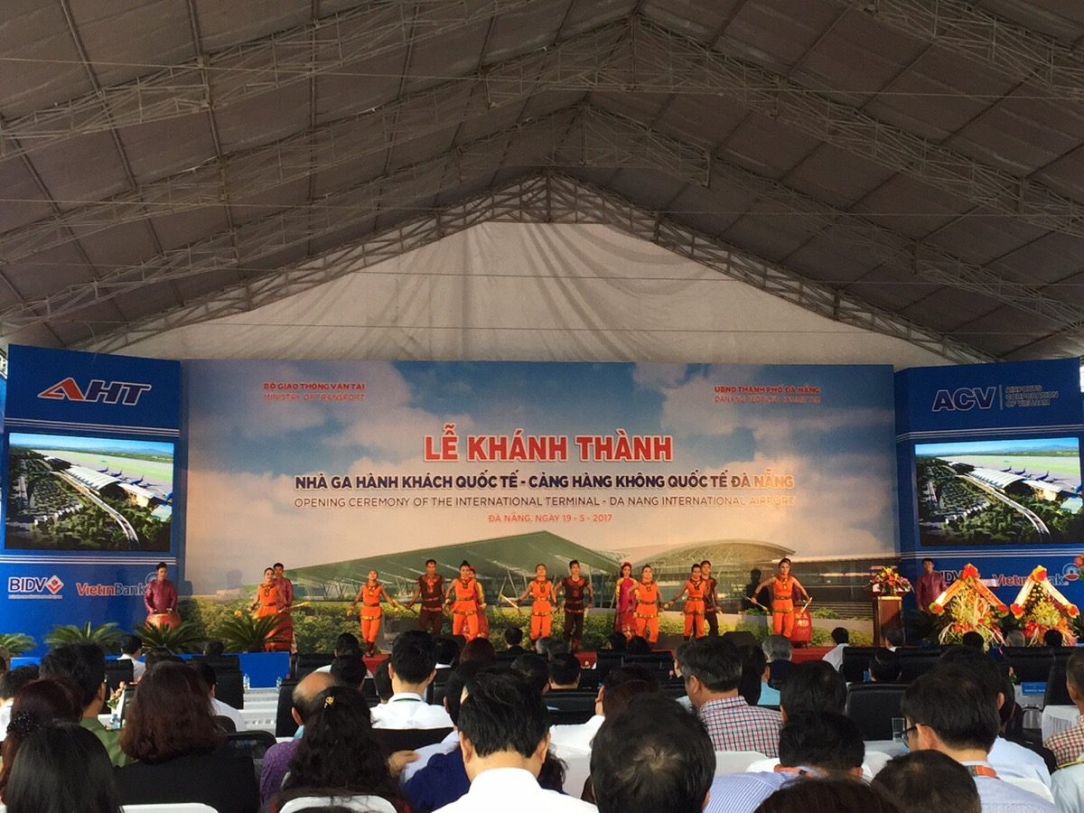 The opening of Da Nang international airport