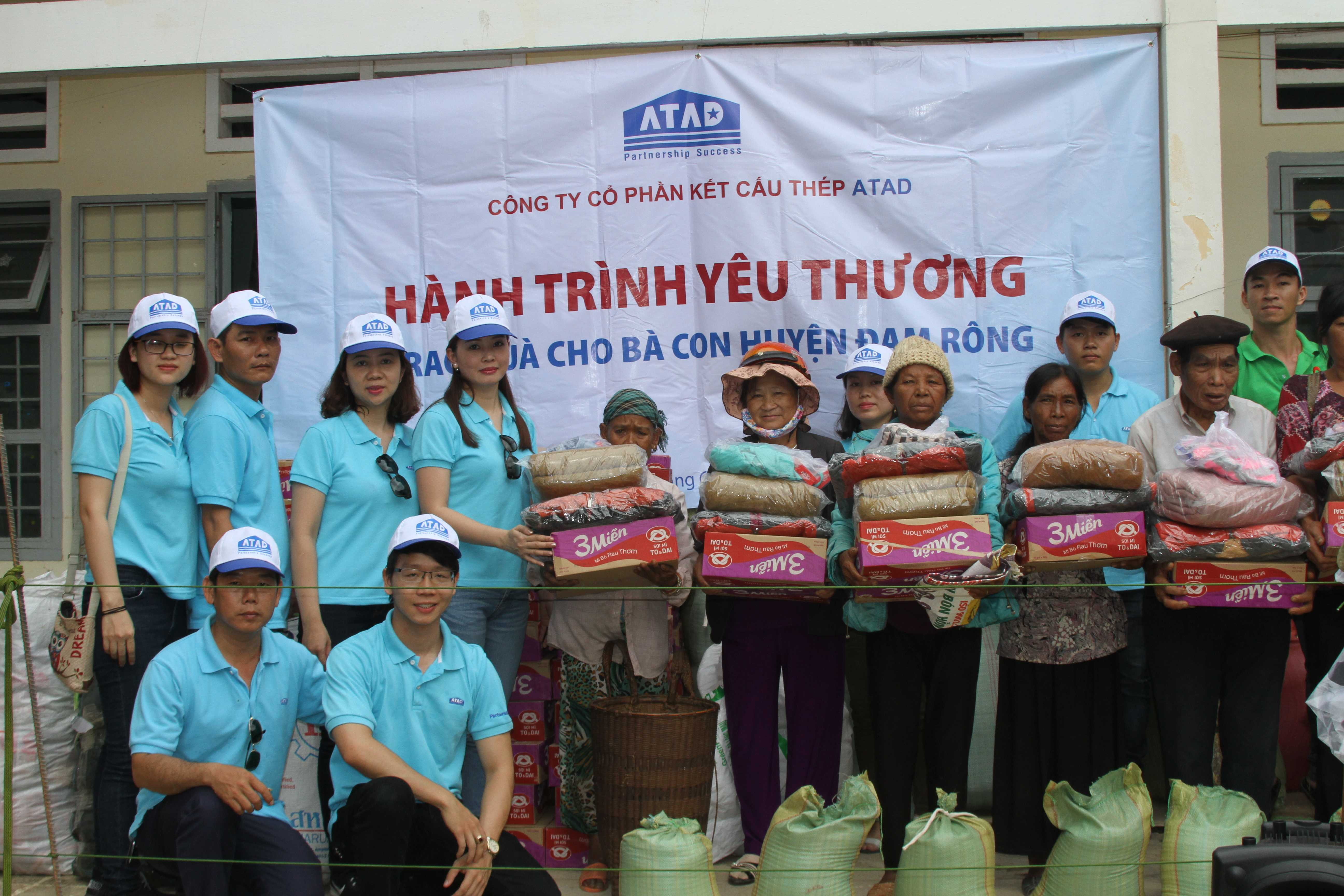 """ATAD participated in """"Love journey"""" at Dam Rong district, Lam Dong province"""