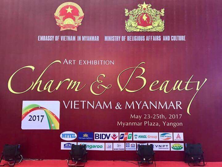"""the """"Vietnam and Myanmar: Charm and Beauty"""" art exhibition"""