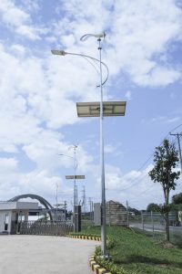 Wind solar hybrid outdoor lighting