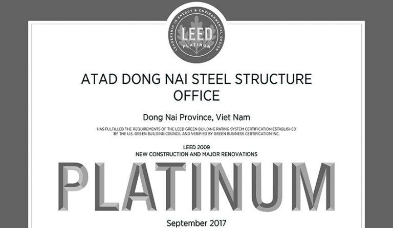 ATAD Đồng Nai đạt chứng nhận LEED Gold và LEED Platinum