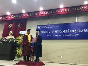 Students received their Bachelor Degrees