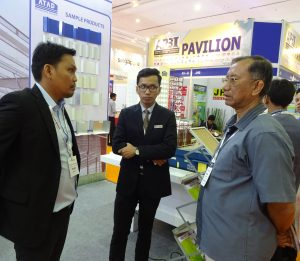ATAD team introduce ATAD's products to visitors