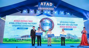 ATAD representatives donated money to 3 charitable foundations in Dong Nai province
