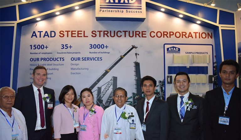 ATAD joined 2017 construction trade shows in Myanmar