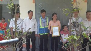 ATAD presented houses of gratitude in Hang Gon ward 1
