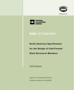 AISI S100-16: North American Specification for the Design of Cold-Formed Steel Structural Members