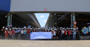 Group took photos in front of ATAD Dong Nai factory