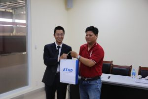 ATAD representatives presented gifts to group