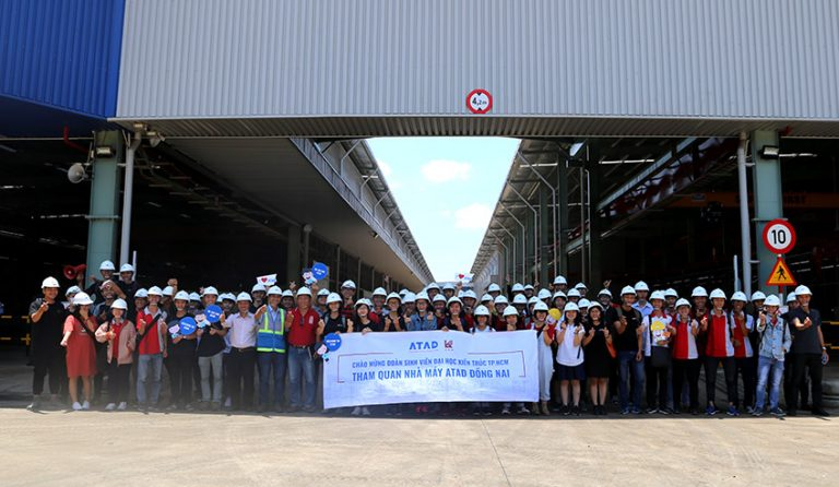ATAD green factory tour provides hands-on experience to University Of Architecture HCMC students