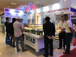 Visitors observed ATAD building model
