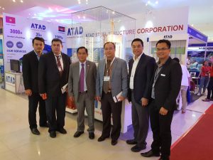H.E. Phuoeng Sophean, General Director of Board of Architects Cambodia and the Secretary of State of Ministry of Land Management, Urban Planning and Construction visited ATAD booth