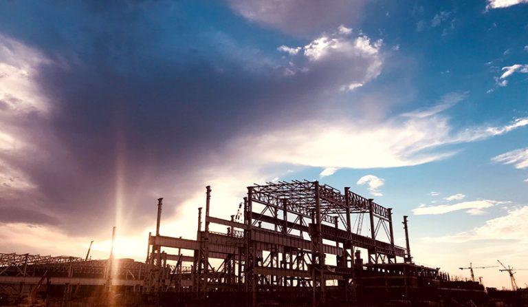 ATAD施工容橘和发钢铁制造联合区