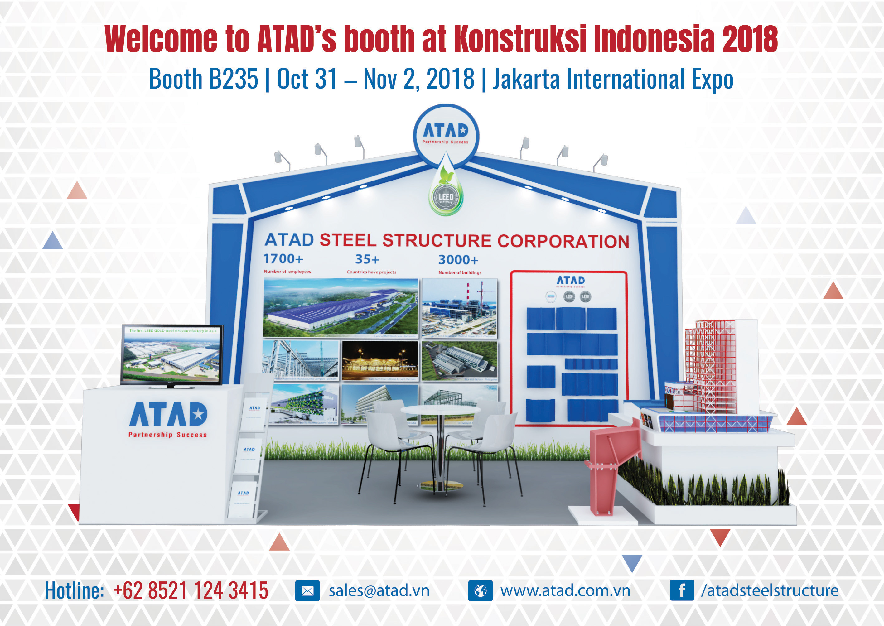 ATAD booth at the Konstruksi Indonesia 2018