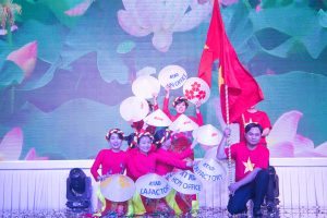 "Dancing performance ""Vietnam, my hometown"" from Dong Nai factory"