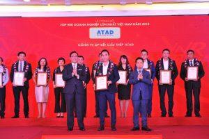 ATAD representatives received the recognition of VNR 500