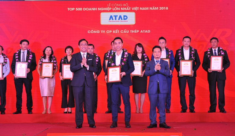 ATAD continues to be honored in the Top 500 largest private enterprises in Vietnam