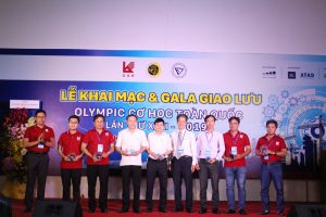 Students in Opening ceremony of 2019 National Mechanical Olympic competition 3