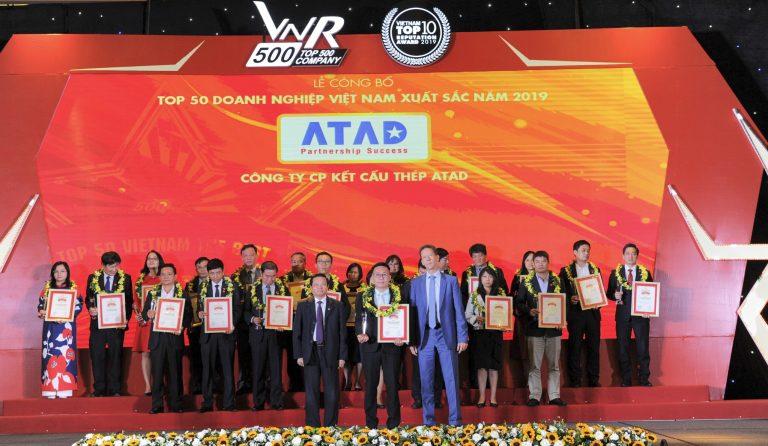 ATAD tiếp tục khẳng định vị thế trong TOP 50 Doanh Nghiệp Xuất Sắc Nhất Việt Nam 2019