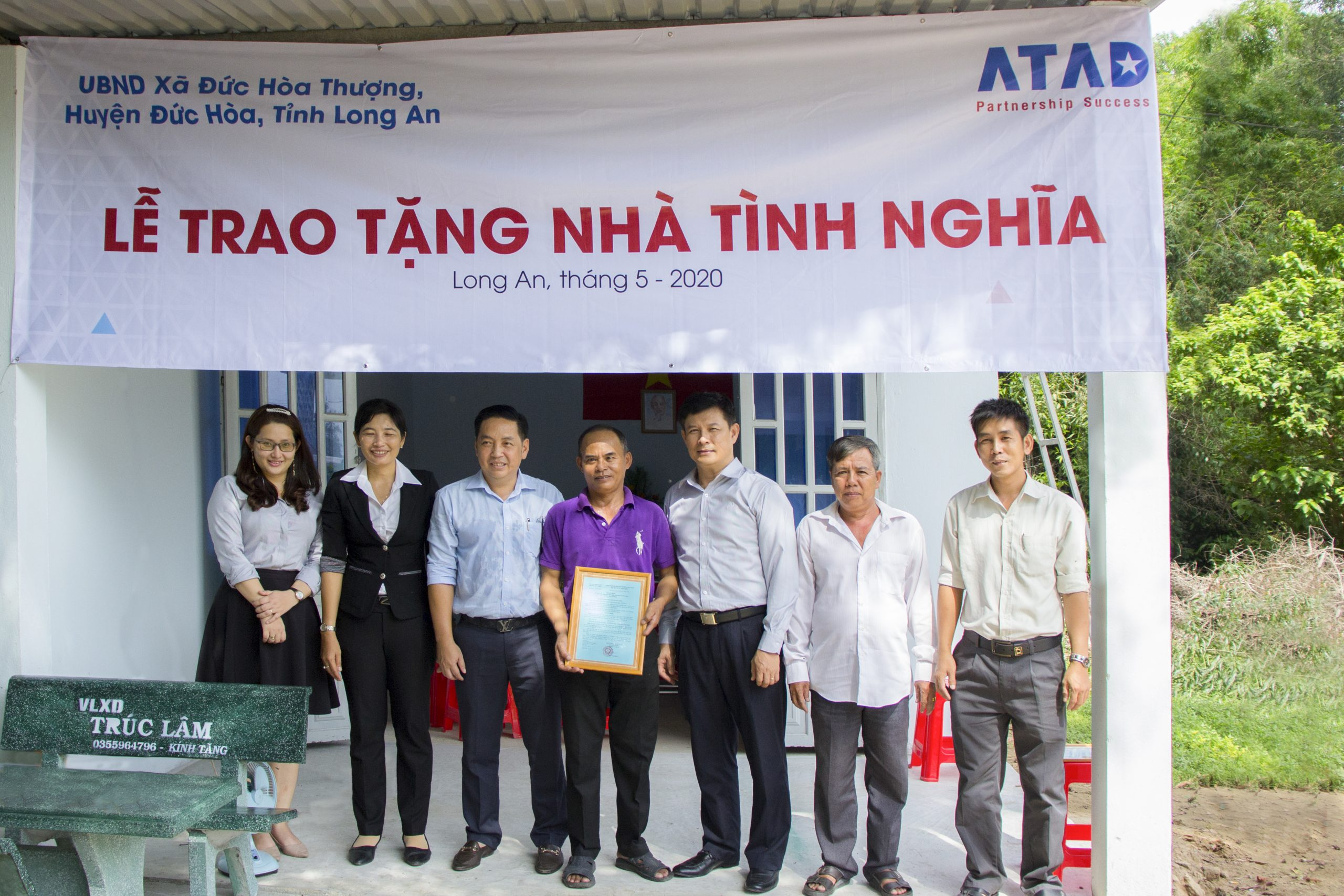 ATAD presented houses of gratitude in Duc Hoa district, Long An province 1