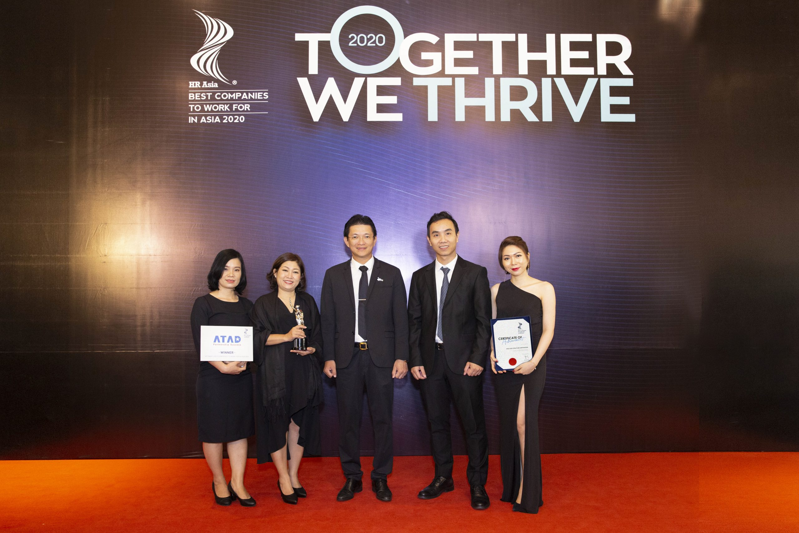 ATAD Steel Structure Corporation honored amongst Best Companies To Work In Asia 2020 1