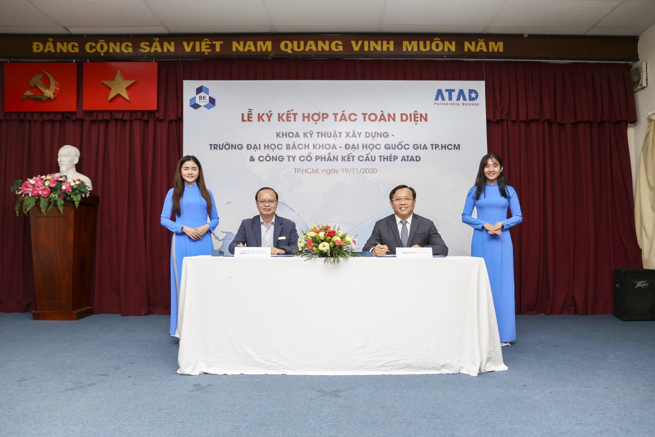 ATAD ký kết hợp tác toàn diện với khoa Kỹ thuật Xây dựng - Trường Đại học Bách Khoa TP. HCM