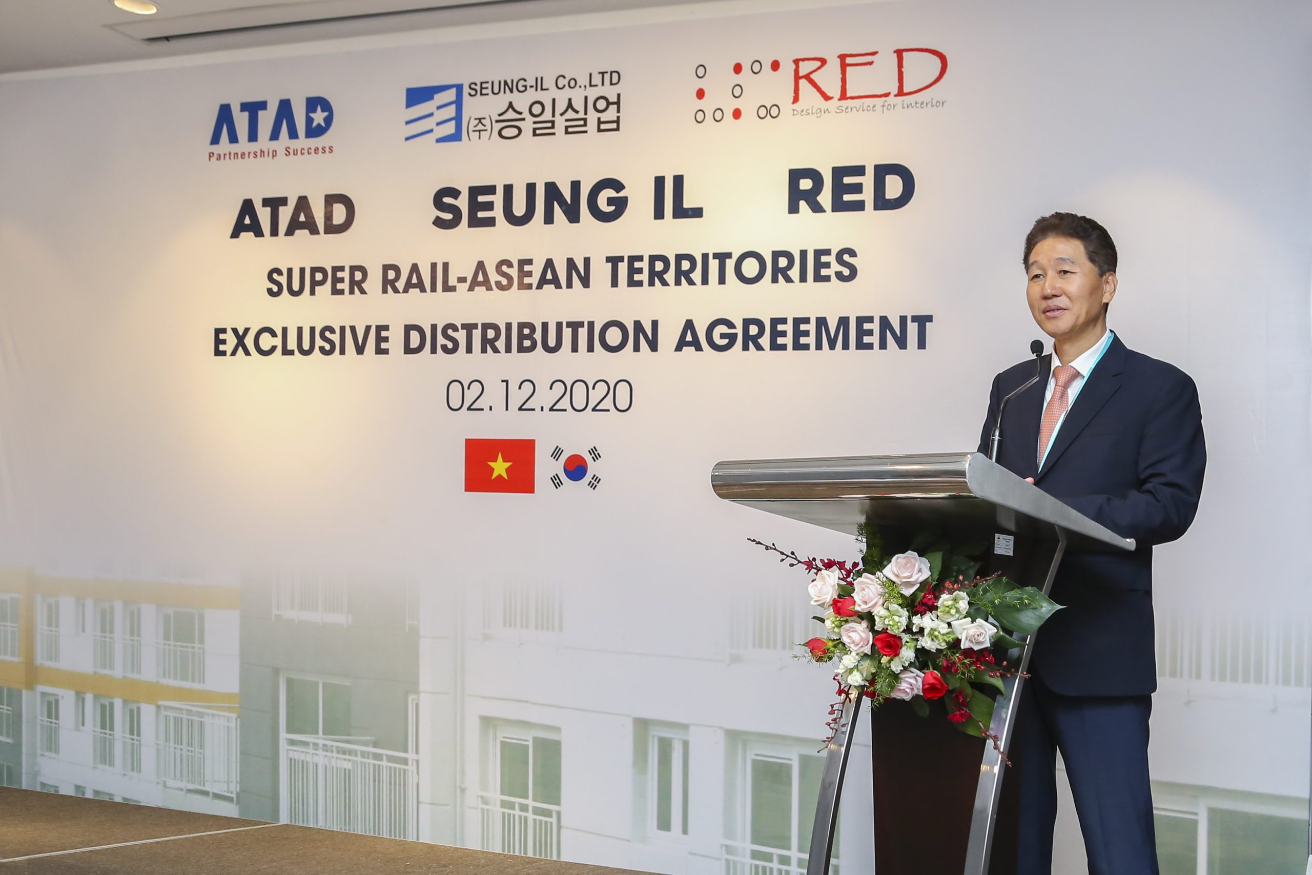 ATAD signed an exclusive distribution agreement for Super Rail – Asean territories with RED company