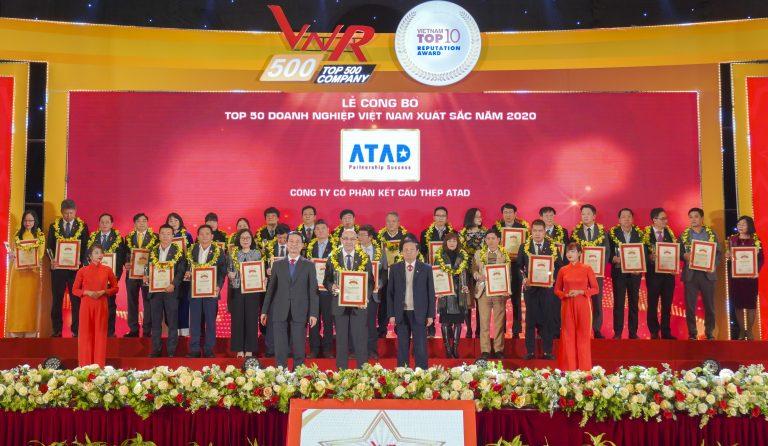 ATAD连续入选2020年越南50强最佳企业和2020年越南500强最大企业(VNR500)