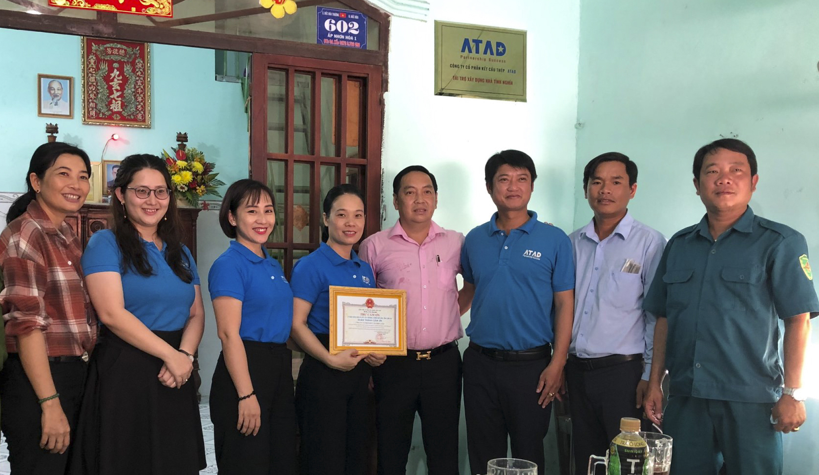 ATAD presented houses to families in difficult circumstances in Duc Hoa town, Long An province