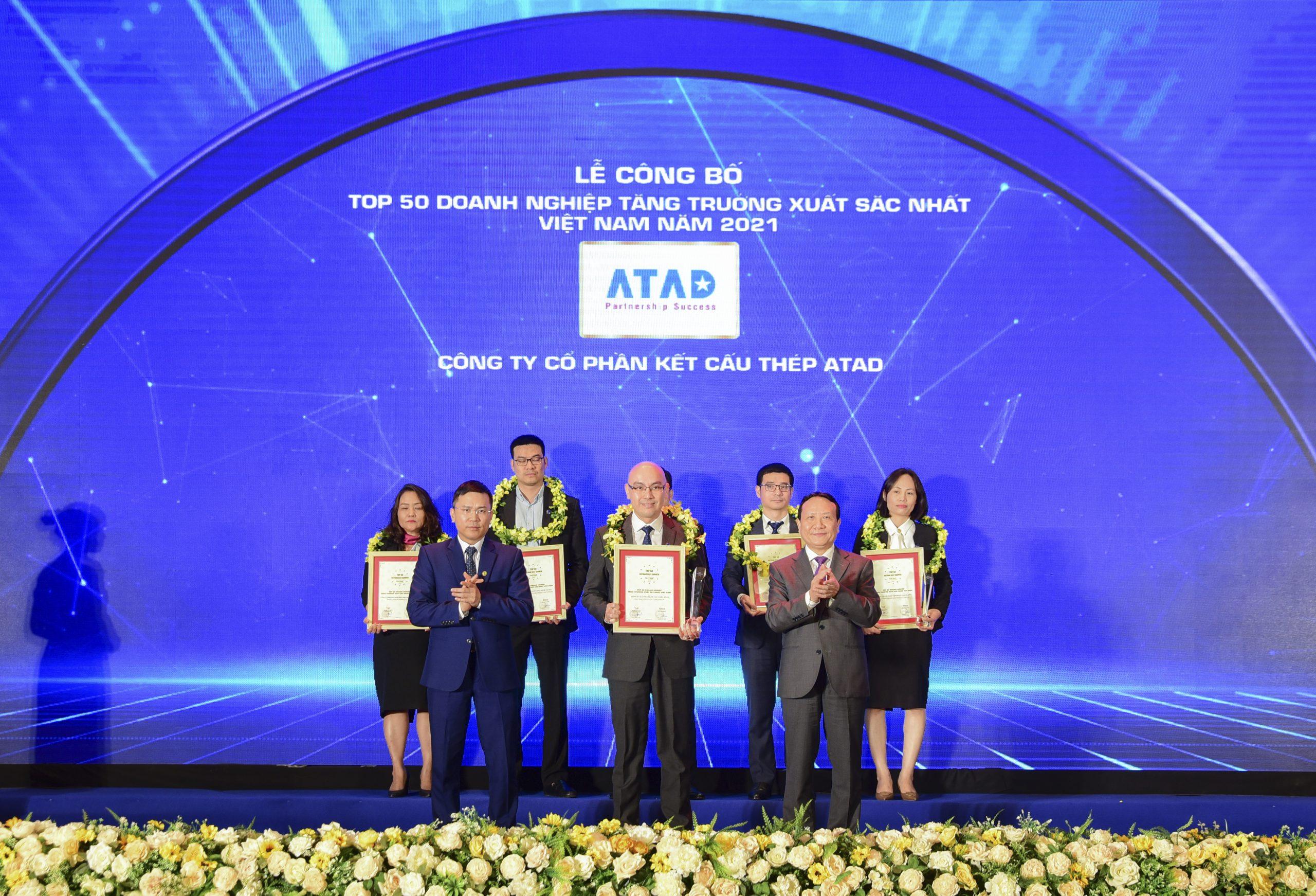 ATAD năm thứ 4 liên tiếp được vinh danh trong Top 50 Doanh nghiệp tăng trưởng xuất sắc nhất Việt Nam