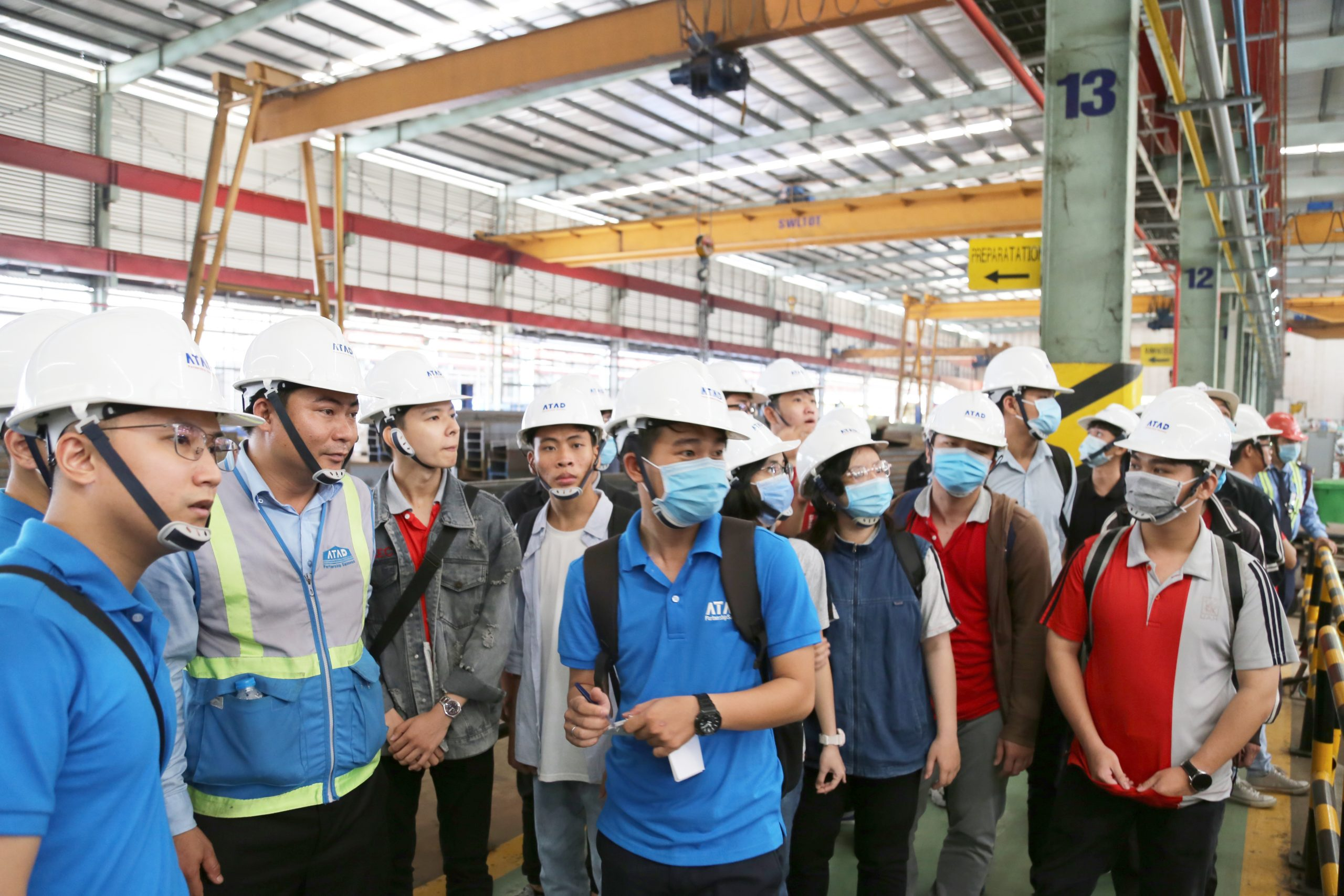 Students of Ho Chi Minh City University of Architecture visited the largest steel structure factory in Viet Nam